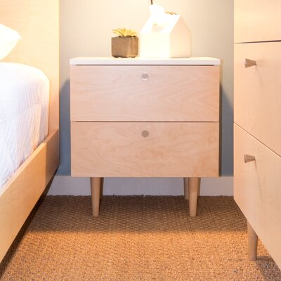 Ulm 2 Drawer Nightstand