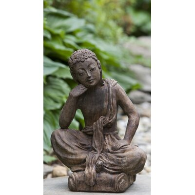Seated Buddha Statue Color: Alpine Stone OR-122-AS
