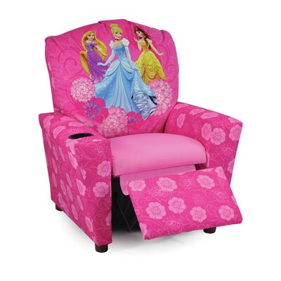 Disney Princesses Kids Recliner with Cup Holder 1300-1-DPTE