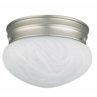 Elby 1-Light Flush Mount Size: 5 H x 8 W x 8 D