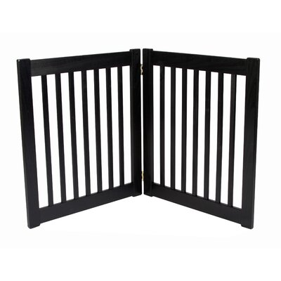 Brayden Amish Handcrafted 2 Panel Free Standing EZ Gate Finish: Black, Size: 27 H x 48 W