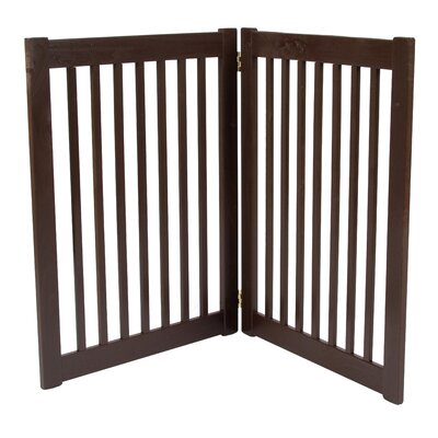 Amish Handcrafted 2 Panel Free Standing EZ Gate Size: 32 H x 48 W, Finish: Mahogany