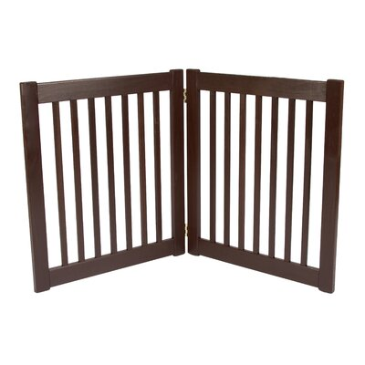 Amish Handcrafted 2 Panel Free Standing EZ Gate Size: 27 H x 48 W, Finish: Mahogany