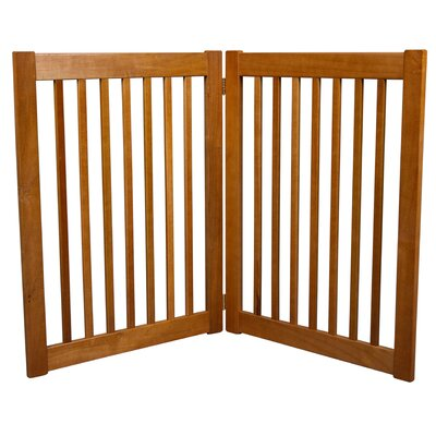 Amish Handcrafted 2 Panel Free Standing EZ Gate Size: 32 H x 48 W, Finish: Artisan Bronze