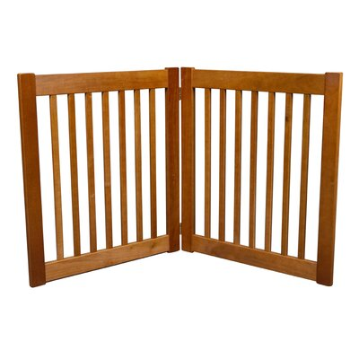Brayden Amish Handcrafted 2 Panel Free Standing EZ Gate Finish: Artisan Bronze, Size: 27 H x 48 W