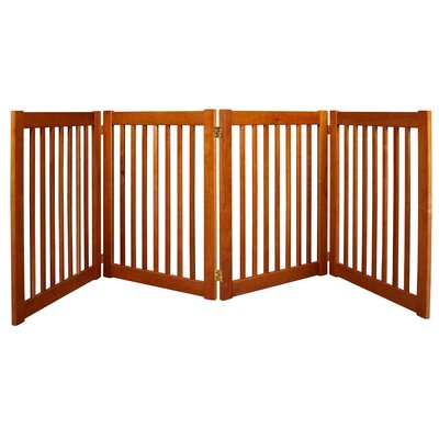 Amish Handcrafted 4 Panel Free Standing EZ Gate Size: 32 H x 72 W, Finish: Artisan Bronze