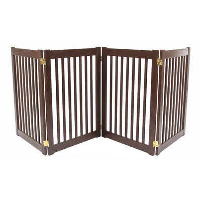 Amish Handcrafted 4 Panel Free Standing EZ Gate Finish: Brown, Size: 32 H x 72 W