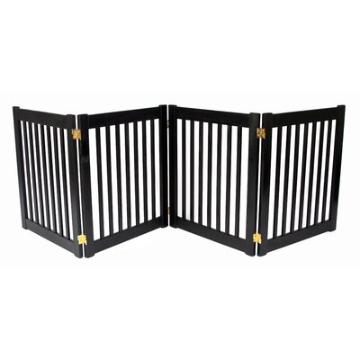 Amish Handcrafted 4 Panel Free Standing EZ Gate Size: 27 H x 72 W, Finish: Black