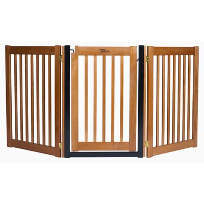 Amish Handcrafted 32 3 Panel Walk-Through Free Standing Gate Finish: Artisan Bronze