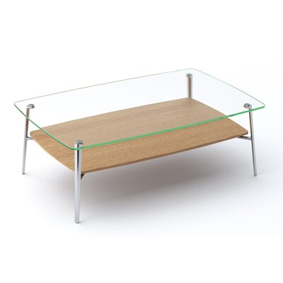 Tazz Coffee Table Size: 15.25 H x 44 W x 28 D, Finish: White Oak