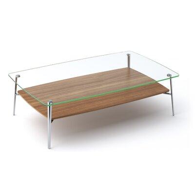 Tazz Coffee Table Finish: Natural Walnut, Size: 15.25 H x 52 W x 32 D