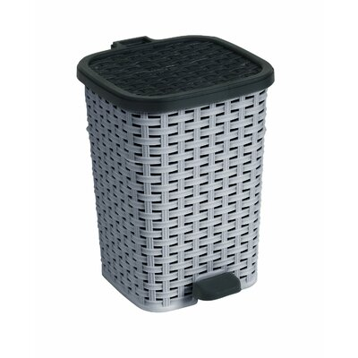Plastic 3.1 Gallon Step On Trash Can 348