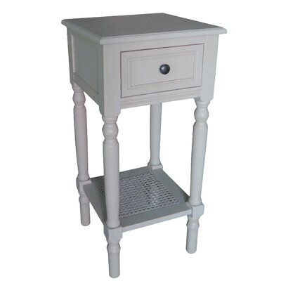 End Table With Storage� Color: Vintage Gray