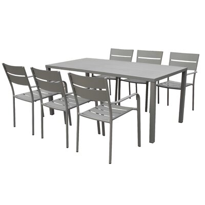 Molnar 7 Piece Dining Set Color: Gray