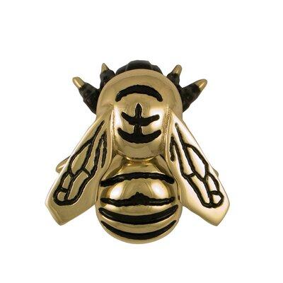 Bumblebee Door Knocker Finish: Brass