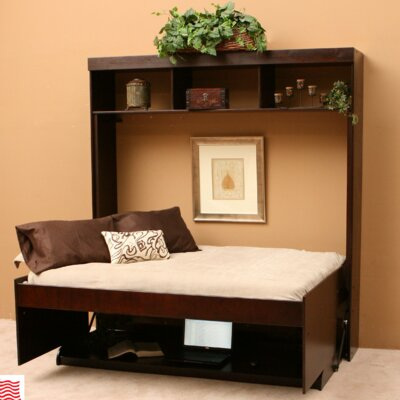 Modern Birch Murphy Bed Finish: Chocolate, Size: Full