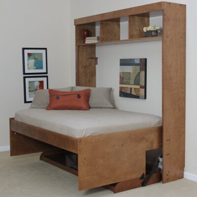 Modern Birch Murphy Bed Size: Full, Color: Sunset
