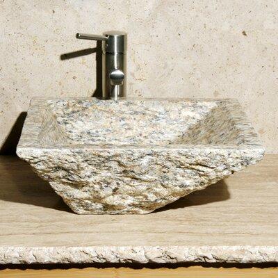 Irregular Stone Rectangular Vessel Bathroom Sink Sink Finish: San Cecilia Granite / High Sheen Polish
