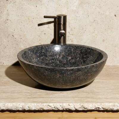 Circular Vessel Bathroom Sink Sink Finish: Tan Brown Granite / High Sheen Polish