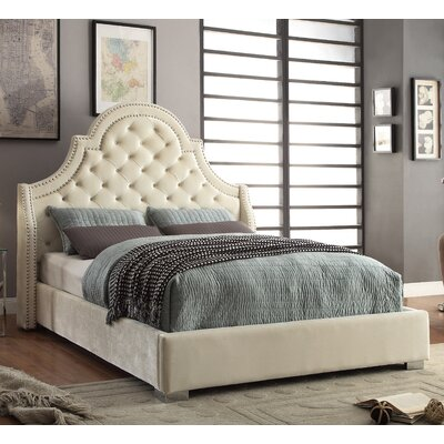 Grove Upholstered Platform Bed Size: King, Upholstery: Cream