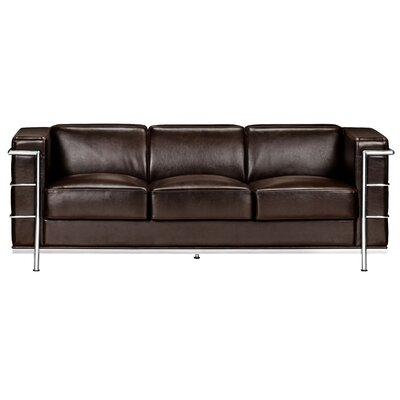 Gallagher Leather Sofa Upholstery: Espresso
