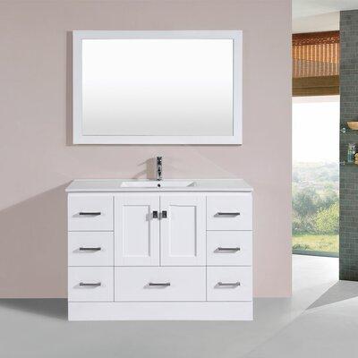 Luci 48 Single Modern Bathroom Vanity Set Base Finish: White