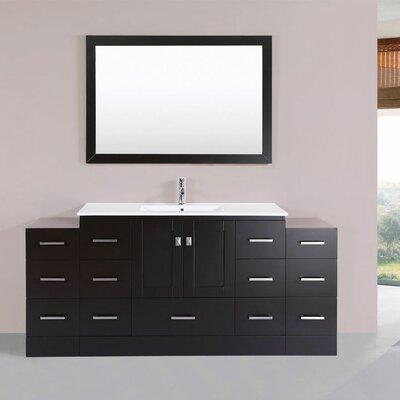 Luci 72 Single Modern Bathroom Vanity Set Finish: Espresso