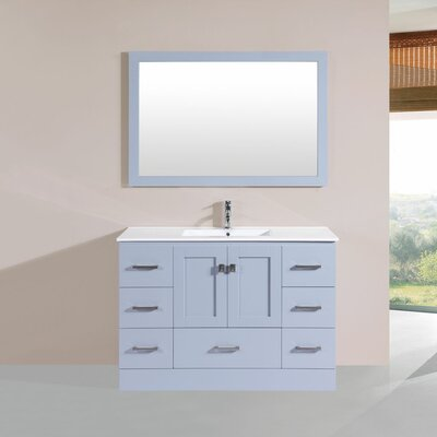 Luci 48 Single Modern Bathroom Vanity Set Base Finish: Gray