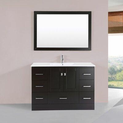 Luci 48 Single Modern Bathroom Vanity Set Base Finish: Espresso