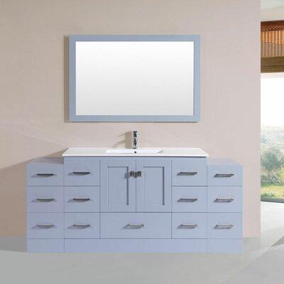 Luci 72 Single Modern Bathroom Vanity Set Finish: Gray