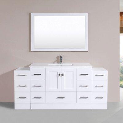 Luci 72 Single Modern Bathroom Vanity Set Finish: White