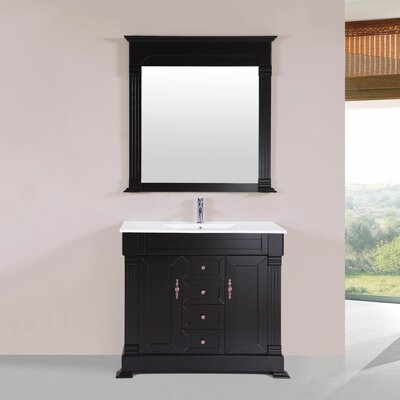 Buterbaugh 40 Single Traditional Bathroom Vanity Set Base Finish: Espresso