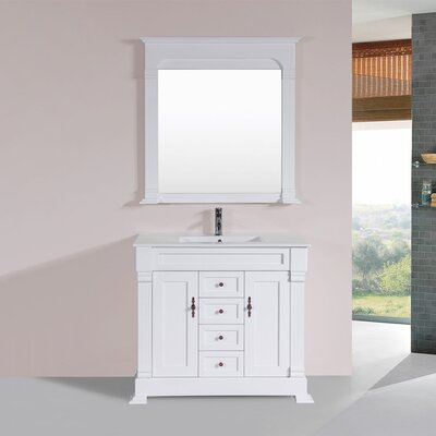 Buterbaugh 40 Single Traditional Bathroom Vanity Set Base Finish: White