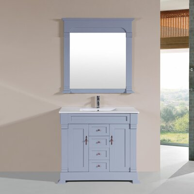 Buterbaugh 40 Single Traditional Bathroom Vanity Set Base Finish: Gray