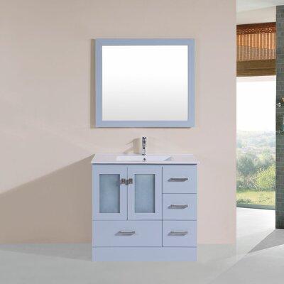 Terese 36 Single Modern Bathroom Right Side Cabinet Vanity Set Base Finish: Gray