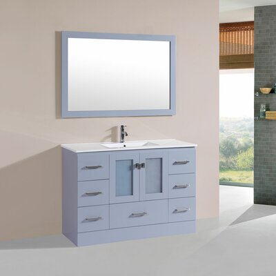 Terese 48 Single Modern Bathroom Vanity Set Base Finish: Gray