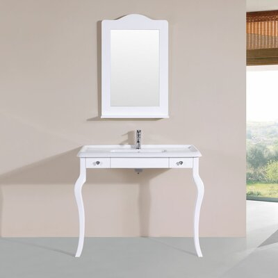 Buswell 40 Single Traditional Bathroom Vanity Set Base Finish: White