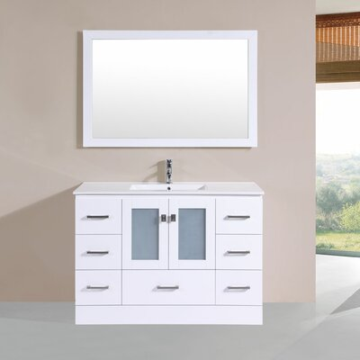 Terese 48 Single Modern Bathroom Vanity Set Base Finish: White