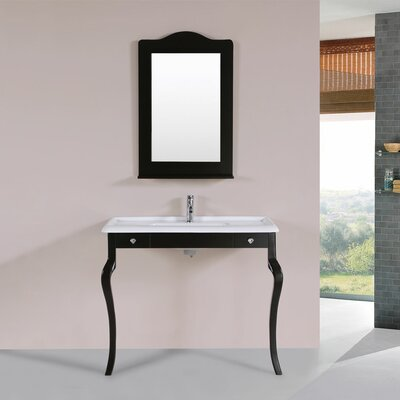 Buswell 40 Single Traditional Bathroom Vanity Set Base Finish: Espresso