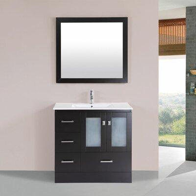 Terese 36 Single Modern Bathroom Left Side Cabinet Vanity Set Base Finish: Espresso