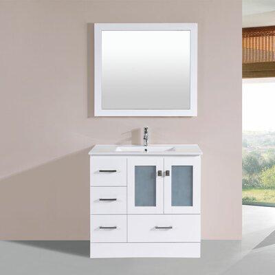 Lapoint 36 Single Modern Bathroom Left Side Cabinet Vanity Set Base Finish: White