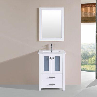 Lyn 24 Single Modern Bathroom Vanity Set Base Finish: White