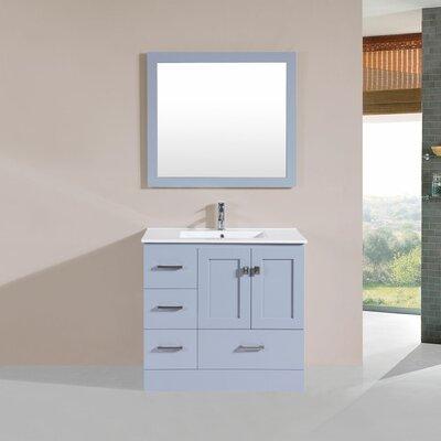 Landrum 36 Single Modern Bathroom Left Side Cabinet Vanity Set Base Finish: Gray