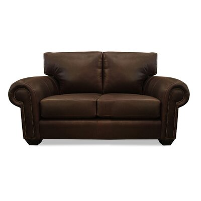 Manchester Leather Sofa Upholstery: Chocolate