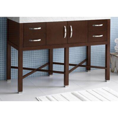 Haley 48 Bathroom Vanity Base Cabinet in Dark Cherry