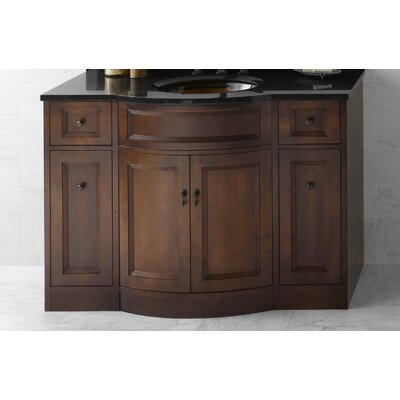 Marcello 48 Single Bathroom Vanity Base Finish: Caf� Walnut