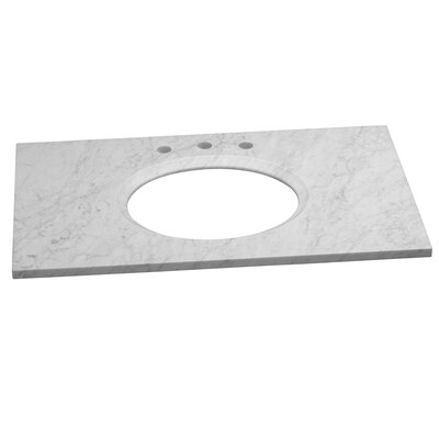 WideAppeal Faucet Hole 37 Single Bathroom Vanity Top