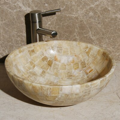 Circular Vessel Bathroom Sink Sink Finish: Sancrystal