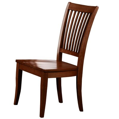 Garden Grove Solid Wood Dining Chair (Set of 2) Finish: Chestnut