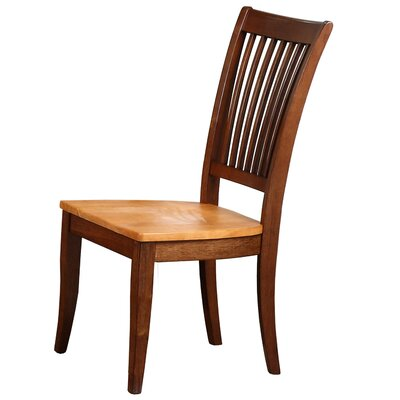 Garden Grove Solid Wood Dining Chair (Set of 2) Finish: Fruitwood
